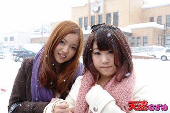最新天然素人 040313_01 與朋友一起細細雪中露出